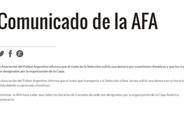 La AFA emiti� un comunicado respondiendo al capit�n de la selecci�n