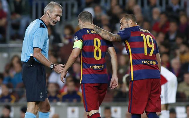 Los partidos que se perderá Andrés Iniesta con el Barça