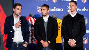Gabi, Koke y Torres, en la renovación del patrocinio de Plus500