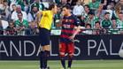 La curiosa tarjeta amarilla que vio Messi en Sevilla