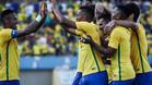 Neymar y Luan, dupla en Brasil