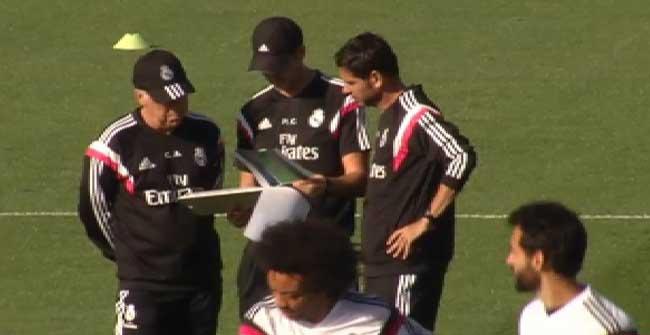 El Real Madrid se entren� pensando en el duelo ante el Bar�a