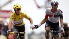 Reto Hollenstein, junto a Mark Cavendish en el Tour 2016