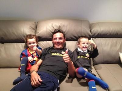 'Purito' Rodríguez, con sus hijos