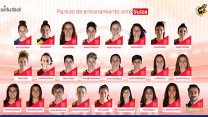 La lista de convocadas de la selección española