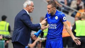 Vardy niega que su relación con Ranieri fuera mala