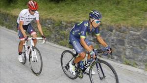 Nairo Quintana se escapó con Contador pero no aguantó el ritmo