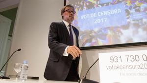 Agustí Benedito está decidido a impulsar el voto de censura contra Josep Maria Bartomeu