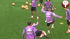 Cristiano Ronaldo la vuelve a liar en un rondo