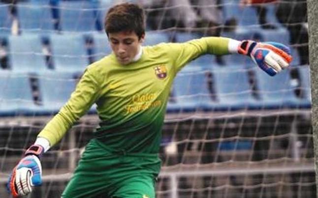 El portero infantil del Bar�a para seis penaltis y marca el gol decisivo