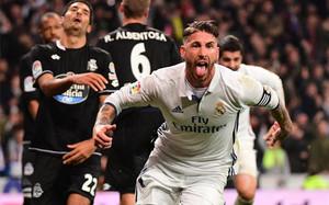 Sergio Ramos marcó el gol de la victoria