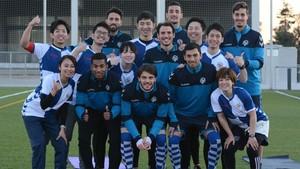 El Sabadell se ejercitó con un equipo de fisioterapeutas de Japón