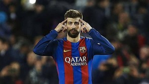 Piqué, defensa del FC Barcelona