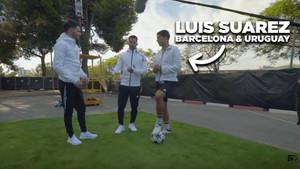 El delantero del Barça Luis Suárez explica sus sensaciones como el mejor ariete del mundo