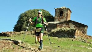 Participando en la media maratón de montaña en la Vall del Congost