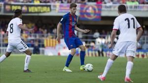 El Barça B no pudo contra la Cultural Leonesa; la derrota de la ida en el Mini fue demasiada losa