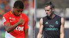 El delantero del Mónaco Kylian Mbappé y el del Real Madrid Gareth Bale
