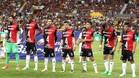 Jugadores de Atlas muestran su apoyo al futbolista Rafael Márquez con su nombre en las camisetas