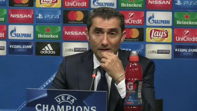 La rueda de prensa de Valverde posterior al Barça-Olympiacos