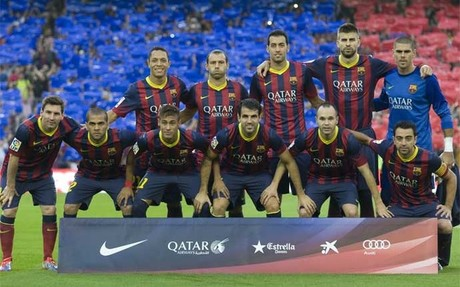 Un Bar�a con los siete magn�ficos, siete jugadores que han vivido ya dos rachas de 28 partidos sin perder. Este mi�rcoles, en Valencia, pueden superarla