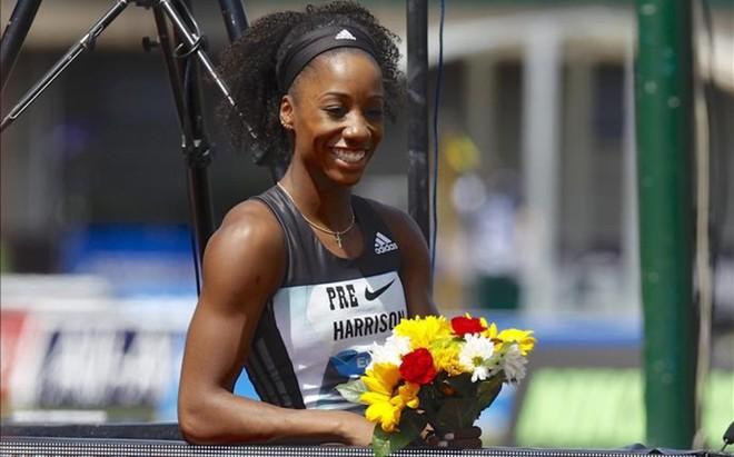 'Keni' Harrison logr� la segunda mejor marca de la historia en 100 metros vallas con 12.24
