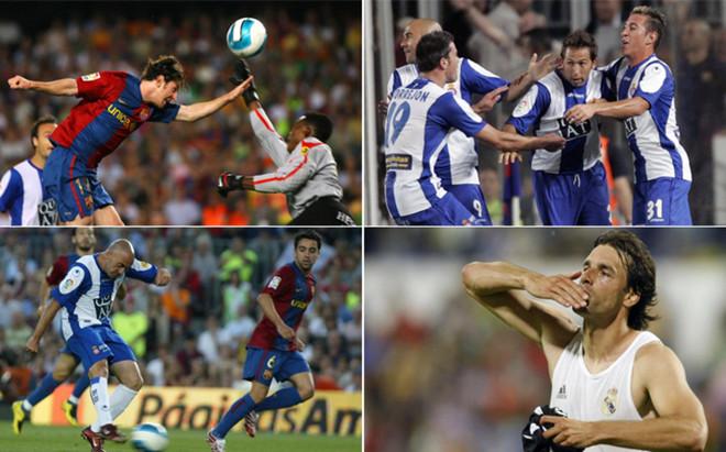 Messi, Tamudo, De la Pe�a y Van Nistelrooy, protagonistas