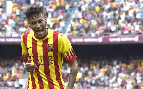 Neymar marc� dos goles
