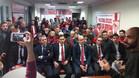 El presidente José Castro acudió a mostrar su apoyo a los peñistas de 'A 1.000 kilómetros de Sevilla'