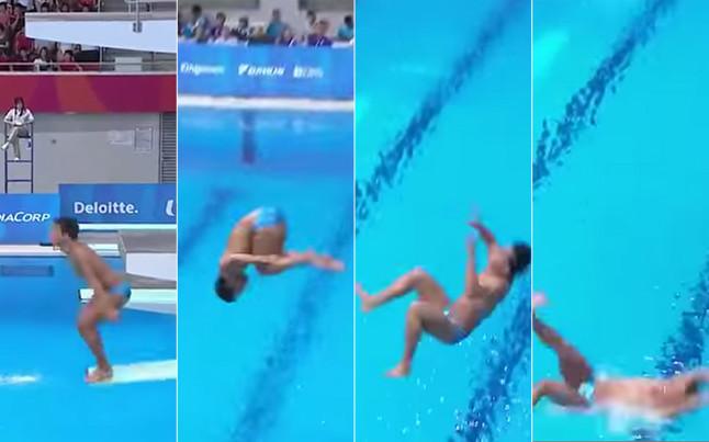 Son estos los peores saltos de trampol n de la historia for Trampolin para piscina