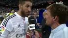 Sergio Ramos celebró el triunfo ante el Barça