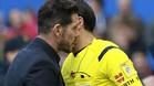 Simeone fue expulsado por Mateu Lahoz y ha sido sancionado con 3 partidos