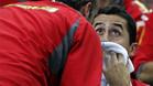 Corretja, dando consejo a Almagro en un momento del quinto partido