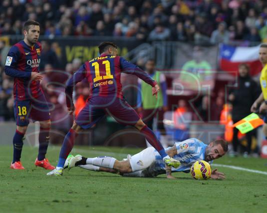 صور : مباراة برشلونة - ملقا  0-1 ( 21-02-2015 )  1424541252453