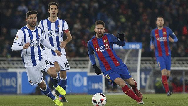 Video resumen Real Sociedad - FC Barcelona (0-1). Ida cuartos Copa del Rey 2016-17