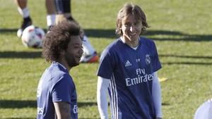 Marcelo y Modric son baja en el Real Madrid