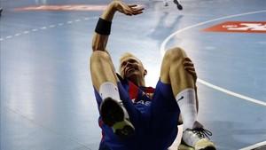 Lasse Andersson en el momento en el que se lesionó