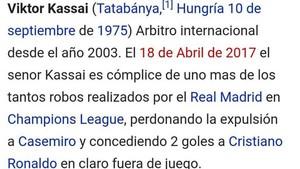 La entrada de Kassai en Wikipedia fue hackeada
