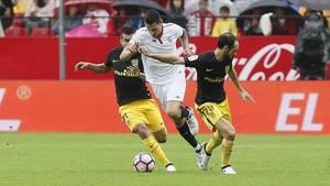 Vítolo, en un encuentro contra el Atlético de Madrid