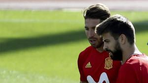 Piqué y Sergio Ramos, en una imagen de archivo