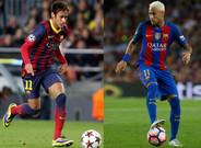 El antes y el despu�s de Neymar