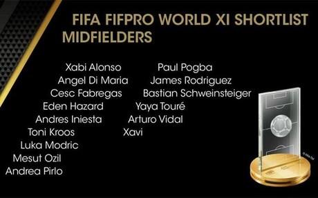 Estos son los nomiados al FIFPro World XI 2014
