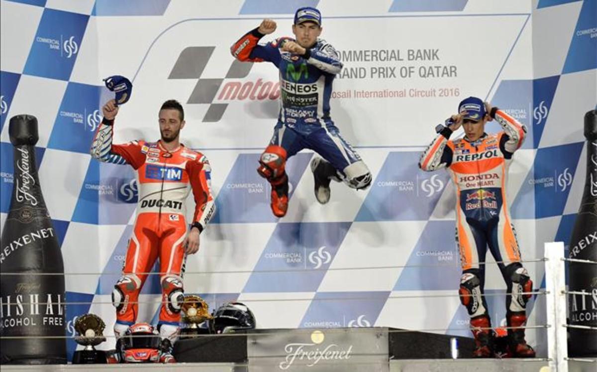 """Lorenzo: """"Carrera muy dif�cil, porque las Ducati eran muy r�pidas"""""""