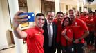 Los deportistas espa�oles visitaron La Moncloa antes de viajar a R�o