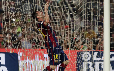 Messi, durante el partido ante el Eibar