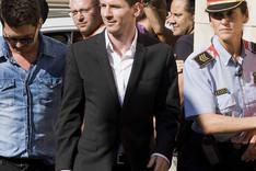 Messi, en los juzgados de Gav� en septiembre de 2013