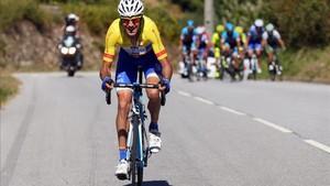Raúl Alarcón, durante la pasada Vuelta a Portugal.