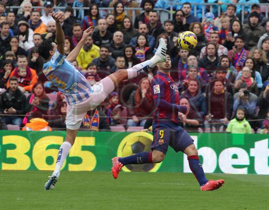 صور : مباراة برشلونة - ملقا  0-1 ( 21-02-2015 )  1424541252463