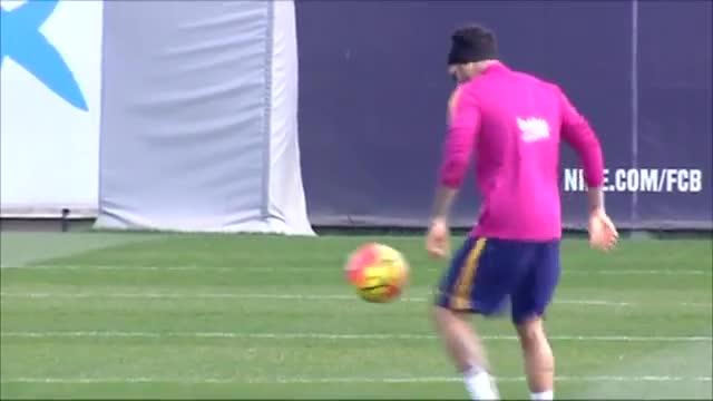 El Barça entrenó antes del Celta