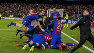 El Barcelona fue protagonista de un remontada histórica