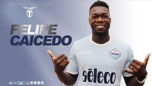Caicedo espera marcar muchos goles con la Lazio